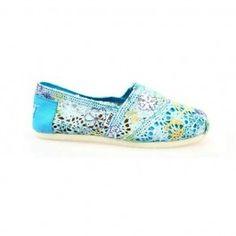 Toms Colored Aqua Blue Crochet Women's Classics www.ridejo.net/toms-women.html