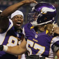 Rookies Cole, Walsh Lead Vikings To Blowout Win Viking 1, South Dakota State, Best Football Team, Chicago Blackhawks, Minnesota Vikings, Football Helmets, It's Raining, Purple, Athletes
