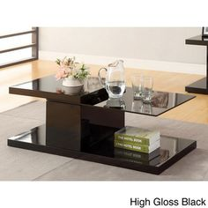 Furniture of America Vironte High-gloss Swivel-top Coffee Table - Overstock™ Shopping - Great Deals on Furniture of America Coffee, Sofa & End Tables