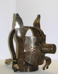 Schandemaske, German, for Mask of Shame. Was devised for public humiliation.