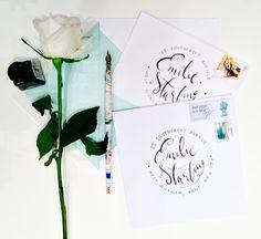 Handwritten Calligraphy Wedding Address Envelopes, RSVP's by emmahcalligraphy on Etsy