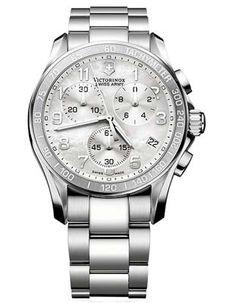 Victorinox Swiss Army Chrono Classic Ladies Watch - White MOP - Steel Design