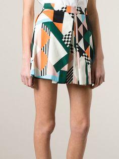 Msgm Printed A-line Skirt - Divo - Farfetch.com