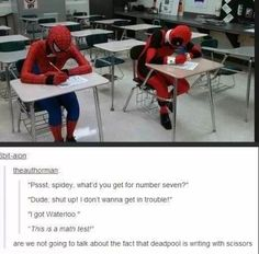 Spiderman and deadpool funny