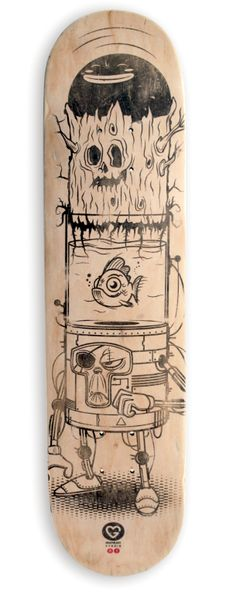 Skateboard design by Grapheart Studio, via Behance