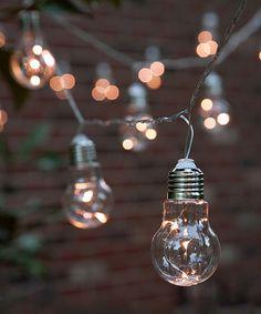 Vintage edison bulb outdoor string lights bulbs outdoor string warm white 9 edison bulb light string set zulilyfinds aloadofball Gallery