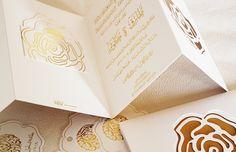 gold wedding invitations | InviteShot