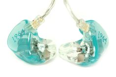 1964 dual driver in ear monitors. This color is cool, and clear glitter is pretty awesome too :)