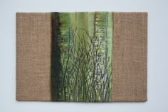 Birch embroidered book cover by Julie Shackson