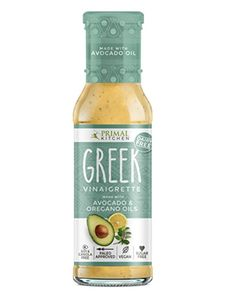 Primal Kitchen - 8 oz Greek Vinaigrettes | Made with Pure Avocado Oil Of Oregano | Paleo Approved | Vegan | Sugar Free | Soy & Canola FREE(1 Pack) …