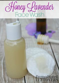 Homemade Honey Lavender Face Wash- This DIY face wash uses honey and other natural ingredients to gently cleanse and moisturize your skin. Give this DIY beauty treatment recipe a try! health and beauty diy Homemade Skin Care, Homemade Beauty Products, Diy Skin Care, Homemade Scrub, Homemade Face Cleanser, Homemade Face Wash, Homemade Biscuits, Natural Products, Belleza Diy
