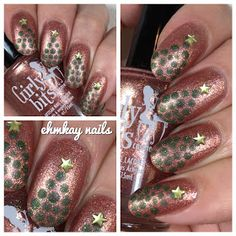 Christmas Tree Dotticure with Girly Bits December CotM