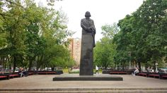 One of my favourite spots in Rusanivka. The statue of Nikolai Gogol.