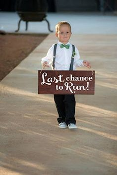 Wedding Signs For Flower Girls & Ring Bearers To Carry