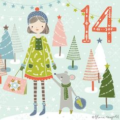 Flora Waycott Christmas Advent 2014 DAY 14 - Christmas shopping with your best friend! xx