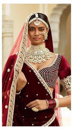 Indian Wedding Jewelry, Indian Jewelry, Indian Bridal, Bridal Jewellery, Pakistani Bridal Jewelry, Sabyasachi Lehenga Bridal, Bollywood Saree, Bollywood Fashion, Indian Aesthetic