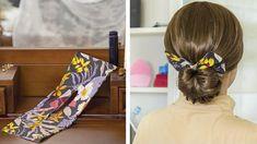 Bun Wrap, Bun Bun, Hair Styles, Brooches, Bandana, Youtube, Beauty, Sewing, Fabric