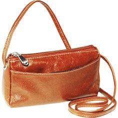 #Handbags, #LeatherHandbags - David King & Co. Florentine Top Zip Mini Bag Honey - David King & Co. Leather Handbags