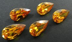 5Pc! Wholesale Lot Citrine Color Zircon 15x25mm Pear Silver Jewelry Gemstone