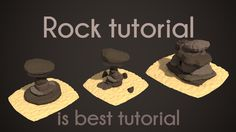 #блендер #примеры #урок | PigArt | BLENDER Tutorial: Low poly rocks