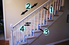 if you are even considering painting your darker wood trim and stairs etc. Read This First.... How to Paint Stairway Railings