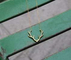 Antler Necklace - Gold Antler Necklace - Silver Antler Necklace - Design Antler Necklace - Necklace - Antler - 18K Gold Plated by GULIAN on Etsy
