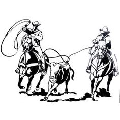 Western Graphics Team Roping Decal