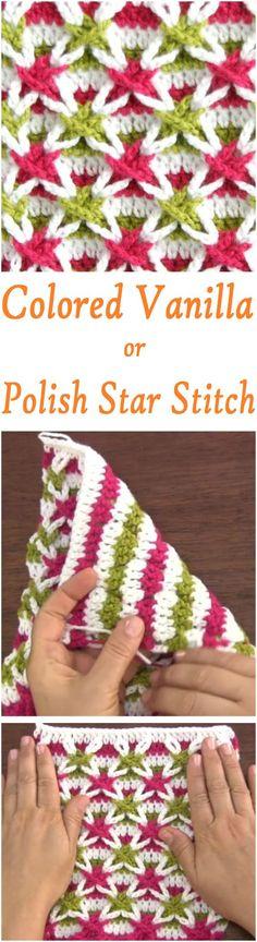 Crochet Polish star or Vanilla Star