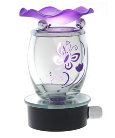 Purple Butterfly Aroma Lamp