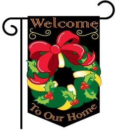 """Christmas Reef Garden Flag Indoor/outdoor 13.5"""" X 18"""" . $10.89. Made with 100% polyester. Dimensions: 13.5"""" x 18"""". Appliqued and embroidered for superior presentation. Includes free window hangers. Double sided for durability. This high quality appliqued and embroidered Garden Flag is double-sided and made of 100% polyester. It has a pole hem and includes free window hangers. Dimensions: 13.5"""" x 18"""""""