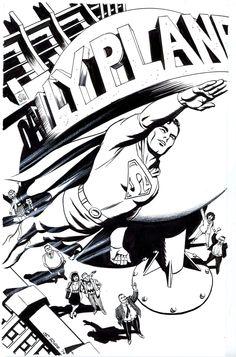 Superman by Steve Rude Superman Comic Books, Comic Book Heroes, Superman Stuff, Superman Family, Superfamily, Comic Artist, Comic Character, Art Sketches, Dc Comics