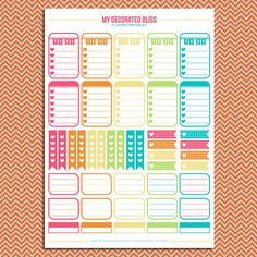 02 Sampler Set Printable Planner Stickers от MyDecoratedBliss