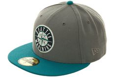 New Era Seattle Mariners Fitted Hat - Storm Gray a6583e859762