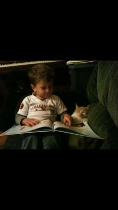 My 4 year old brother likes to practice his reading skills to anyone who will listen - Imgur