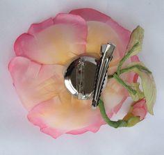 handmade accessory silk flower brooche hair klip by kirishkin