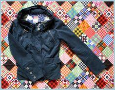 Miss Sixty Girl Damen Jacke mit Kapuze Blau S Blogger Mantel NEU Herbst Vintage | eBay