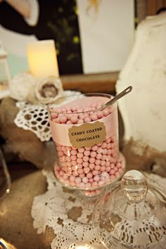Life, love, and some other stuff.: the reception Fall Wedding, Wedding Reception, Our Wedding, Dream Wedding, Wedding Ideas, Candy Table, Wedding Desserts, Milk Glass, Communion
