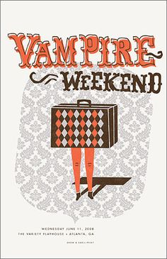 Vampire Weekend - gig poster