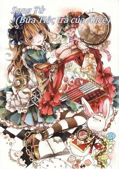 Anime: Alice In Wonderland Manga Anime, Anime Chibi, Manga Art, Kawaii Anime Girl, Anime Art Girl, Anime Girls, Wonderland, Anime Version, Beautiful Anime Girl