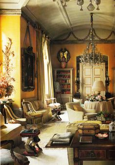 """Yellow Room Avery Row, London by Nancy Lancaster and John Fowler, as Nancy would say """" buttah yellah!!"""" My all-time favorite room."""