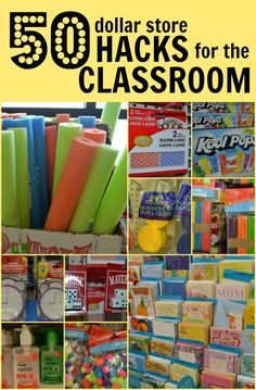 Don't spend a lot of money on classroom supplies. Check out our 50 Dollar Store Hacks where we feature 50 different items you can buy for just $1!