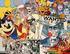 Erro Wanted - Acrylique sur toile