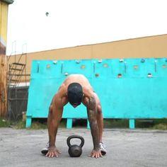 Hiit Workout Routine, Calisthenics Workout, Gym Workout Videos, Gym Workout For Beginners, Workout Challenge, Kettlebell Training, Weight Training Workouts, Fitness Workouts, At Home Workouts