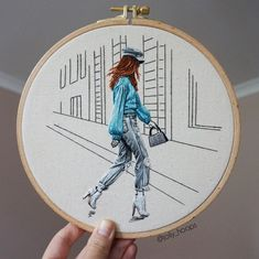 """Every step you make, brings you closer to your dreams🐬 ✨""""Girl from Paris Fashion Week"""" is now available on ✨ 🐬 the link is in my bio… Diy Embroidery Art, Simple Embroidery, Art Inspo, Dreaming Of You, Bring It On, Clock, Instagram Posts, Inspiration, Crafts"""