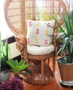 Give your house a pineapple makeover with this easy-to-make pillow.