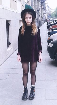 11 Ways to Wear Black Dresses for This Summer Looking for outfit ideas? Check these 11 ways to wear black dresses! Perfect for this summer! Indie Outfits, Grunge Outfits, Grunge Fashion, Look Fashion, Casual Outfits, Fashion Outfits, Grunge Boots, Fashion Black, Fashion Ideas