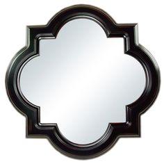 "allen + roth 30""H x 30""W Quatrefoil Octagon Framed Mirror.  All it needs is a paint job."