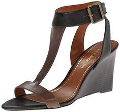 Enzo Angiolini Women's Vlade Wedge Sandal,Black/Ta... ($88.99)