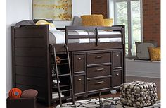 Clubhouse Chocolate Twin Jr. Loft Bed
