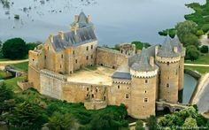 Château de Suscinio, summer residence to the Dukes of Brittany,  Presqu'Ile de Rhuis,  Morbihan.  Brittany